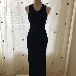 Lulus black form fitted maxi dress